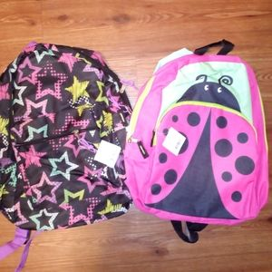 2 NWT GIRLS KIDS BACKPACKS SCHOOLBAGS